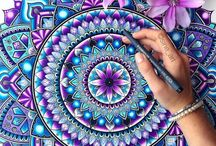 Mandala Love / A Gallery of Mandalas, kaleidoscopes, fractals, circles, spheres, spirals, zentangles, zendalas, macro flowers, mandalas in nature, sacred geometry etc. Hand drawn, hand painted, mixed media, digital mandala art etc.