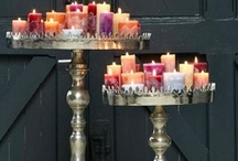 Candles , Candle holders, Candelabra, Chandeliers, Lights, Lanterns... / I love these..My Daughter thinks I'm a hoarder because I'm always buying them :) / by Billie-jo Shepherd