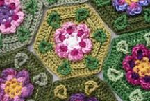 CROCHET - GRANNIES, HEXES, DOILIES / by Annie Wong