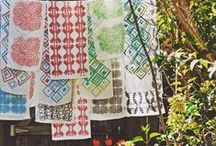 my textiles / These are some of the textiles that I made/designed by using thread (free-motion sewing) & screen printing.