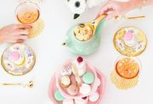 Pastel Holiday Tea Party / Think pink, tinsel, teacups and tiny cakes! / by Random Acts of Pastel