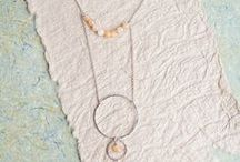 WINTER MOON / the Winter Moon Collection inspired by crisp nights walking in the crisp air along the shore under a full moon... jewelry made with thoughtful details of circles and gemstones