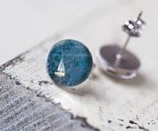 STUDS / sweet little stud earrings out of abstract photographs take by Laura B Scott