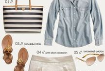 ACCESSORIZE CHAMBRAY / Chambray is a favorite alternative to heavy denim that comes in many shades of blue ... here is how to accessorize this linen/cotton blend ...