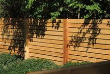 Wood Fence / Wood fencing available in treated or western red cedar.  We install all our wood fences board on board - no pre-made panels here.  From simple designs to complex projects, picket to privacy, we would love to create an unique wood fence for you.