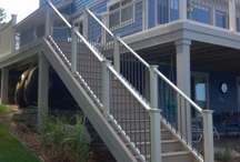 Vinyl Railing / Maintenance free vinyl railing - many possibilities - for your deck, porch, and stairs.