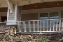 Railing Aluminum Ornamental / Maintenance free Aluminum Ornamental railing for safety for your porch, decks, stairs and retaining walls.