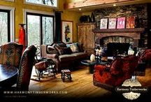 Fireplace / Beautiful fireplaces featured in our timber frame projects.