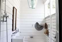Powder rooms and mud rooms