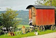 Shepherds huts, caravans and tree houses