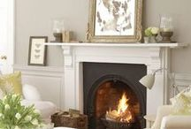 Home ideas: Fireplaces and mantles. / by Denise Rogers