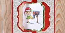 Santa Mail Stamps and Dies / Clear stamps and dies from pinkandmain.com