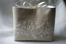 Hand-stitched bags and purses