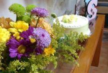 Artesanato para festas / Letras decoradas, flores, comidas caseiras, detalhes manuais para festas caseiras...