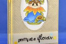 Sunflower / Clear stamp from pinkandmain.com