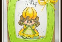 Tulip / Clear stamp from pinkandmain.com