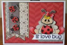 Lil Love Bug Stamps and Dies / Clear stamps and dies from pinkandmain.com
