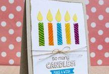 Birthday Wishes / Clear stamp from pinkandmain.com