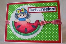 Melon / Clear stamp from pinkandmain.com