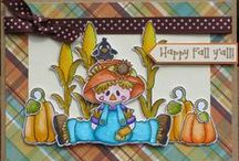 Scarecrows Stamps and Dies / Clear stamps and dies from pinkandmain.com