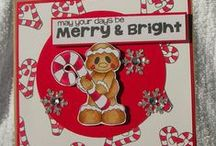 Gingerbread Stamps and Dies / Clear stamps and dies from pinkandmain.com