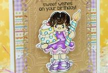 Birthday Girl Stamps and Dies / Clear stamps and dies from pinkandmain.com