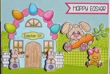 Easter Street / Clear stamp from pinkandmain.com
