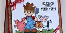 Funny Farmer / Clear stamp from pinkandmain.com