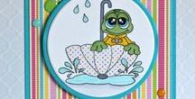 Rain Frogs Stamps and Dies / Clear stamps and dies from pinkandmain.com