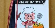 BBQ / Clear stamp from pinkandmain.com
