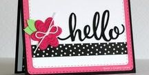 Hello Friend Stamps and Dies / Clear stamps and dies from pinkandmain.com