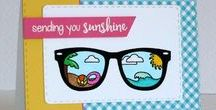 Sunny Hello / Clear stamp from pinkandmain.com