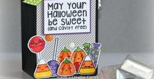 Sweet Halloween Stamps and Dies / Clear stamps and dies from pinkandmain.com