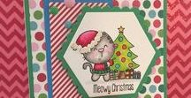 Santa Paws Stamps and Dies / Clear stamps and dies from pinkandmain.com