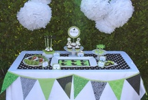 Posh Ducky Baby Shower / I designed the Posh Ducky Baby Shower for someone who really wants to stand out! The bright green & black colors make this shower theme perfect for a boy or a girl! The printables are available in my shop Etsy.com/EmmysEvents.
