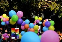 6th Delhi Pride 2013 / people joining hands to celebrate the diversity within the gender spectrum fighting for the cause of gender equality.