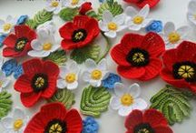 Flowers are beautiful / flowers of any kind:real, paper flowers, crochet, in the necklaces, scarves, decorations, broches etc.