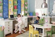 Homework Kid Spaces / Homework spaces, desks, homework organization, homeschool spaces