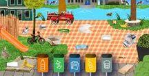 School: recycling en milieu / Recycling, milieu, elektrische apparaten, textiel