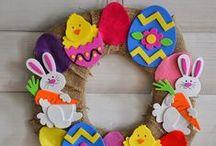 Easter. Пасха / Пасхальные рукодельные работы, украшение дома к празднику, подарки.