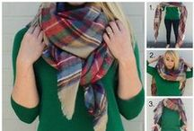 How many ways to tie a scarf? / Create some great looks using different techniques and work your wardrobe. Whatever look you want, whether it be simple elegance or glamorous sophistication, you can create it with these great tutorials.