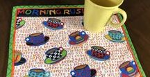 Quiltsy, Coasters, Mug Rugs from the Quiltsy Team on Etsy / Coasters, Mug Rugs and fun items for your kitchen from the Quiltsy Team on Etsy
