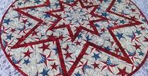 Quiltsy, Patriotic, 4th of July, USA Quilts from the ETSY Quiltsy Team / Patriotic quilts, Red White and Blue Quilts, Americana Decor