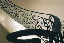 Custom Wrought Iron Gallery / The Custom Wrought Iron Gallery features custom staircases, balconies, and wine doors using House of Forgings products. Many of our raw forged iron balusters are used by fabricators to create elaborate designs.