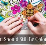 Crafts for Chemo and Free Adult Coloring Pages / Easy crafts to do during chemo!