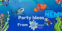 Finding Nemo/Dory Fun Kids ideas / Great ideas for birthday parties, movie nights or just for getting crafty at the weekend.  All from Wayne Wonder at Wonder Kids a multi award winning family entertainer from the UK.