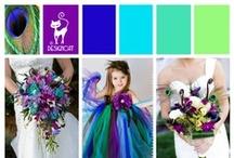 Wedding - Peacock / Purple, plum, teal, turquoise & lime