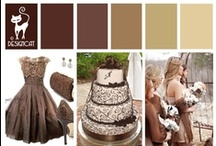 Wedding - Brown shades  / Brown does not have to boring. From Rich Chocolate to Creamy Coffee, warm shades of Brown give a lovely rich feel to your Wedding.