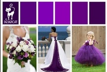 Wedding - Purple  / Regal deep purple wedding Inpiration
