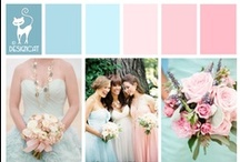 Wedding - Pink & Blue - Pastel - Rose Quartz & Serenity - Pantone colours 2016 / Pantone Colours for 2016 - Rose Quartz & Serenity